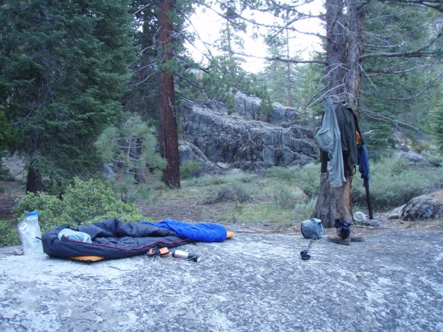 The bivy rock. Just shy of Kennedy Meadows.