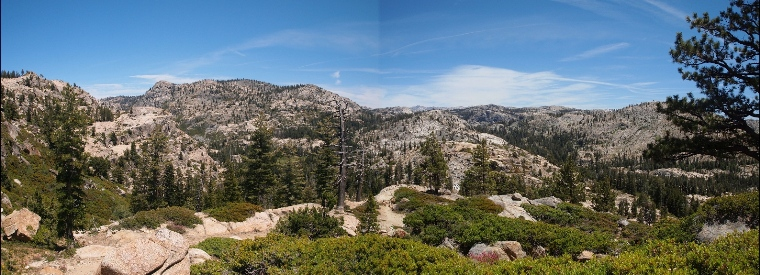 Two routes in via Piute Meadow trail on the left or Groundhog Meadow trail on the right...