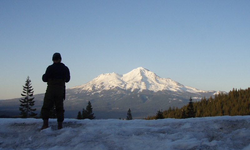 Greg with Mt. Shasta in the background.